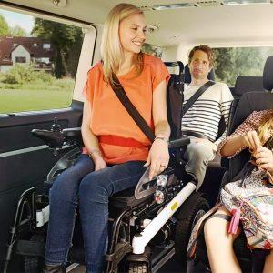 Innenaufnahme vom VW Multivan für Passivfahrer